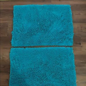 Other - 2 matching Chenille Aqua Blue Rugs